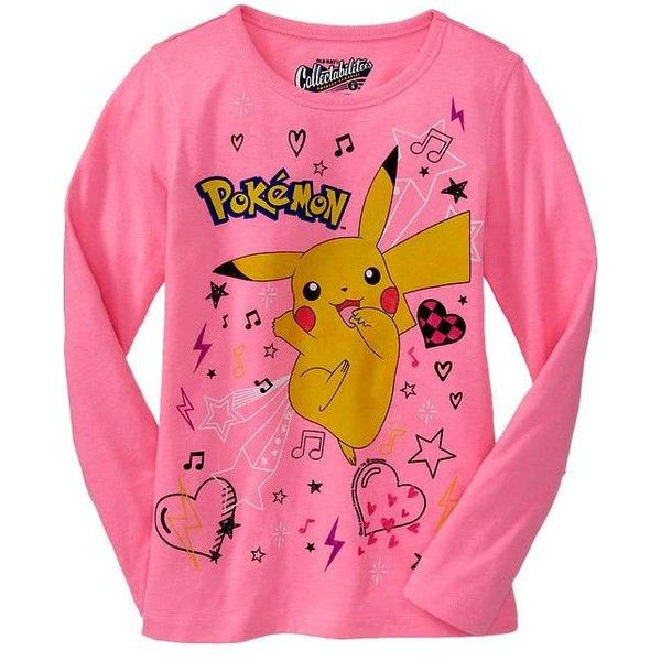 b38634d4 Old Navy Girls PokeMon Tees ($7.47) ❤ liked on Polyvore featuring tops,  pokemon, shirts, long sleeved and t-shirts