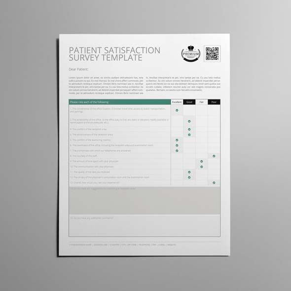 Patient Satisfaction Survey Template US Letter CMYK  Print Ready - patient satisfaction survey template