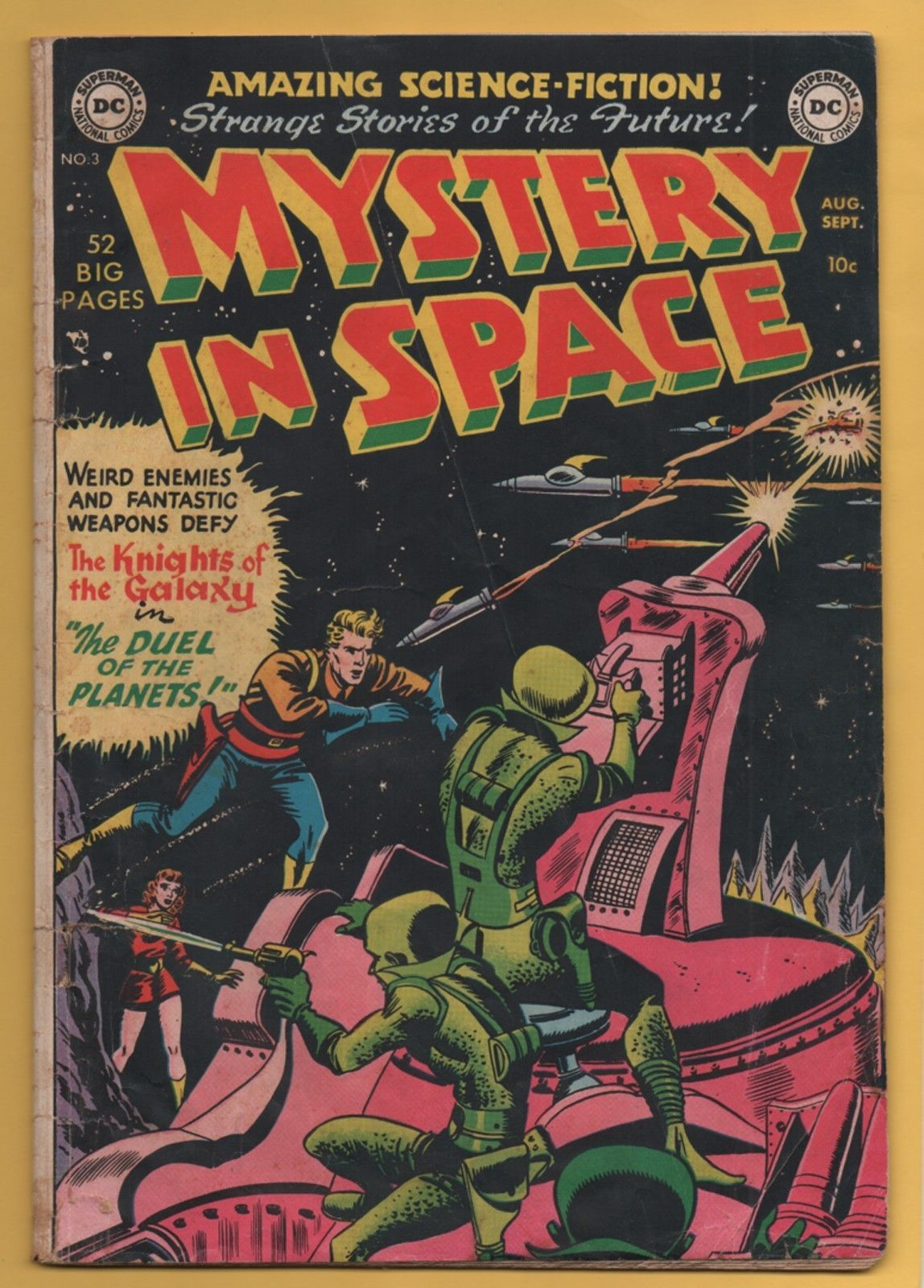 Mystery in Space #3 DC Comics 1951 Infantino The Duel of the Planets! VG- | eBay