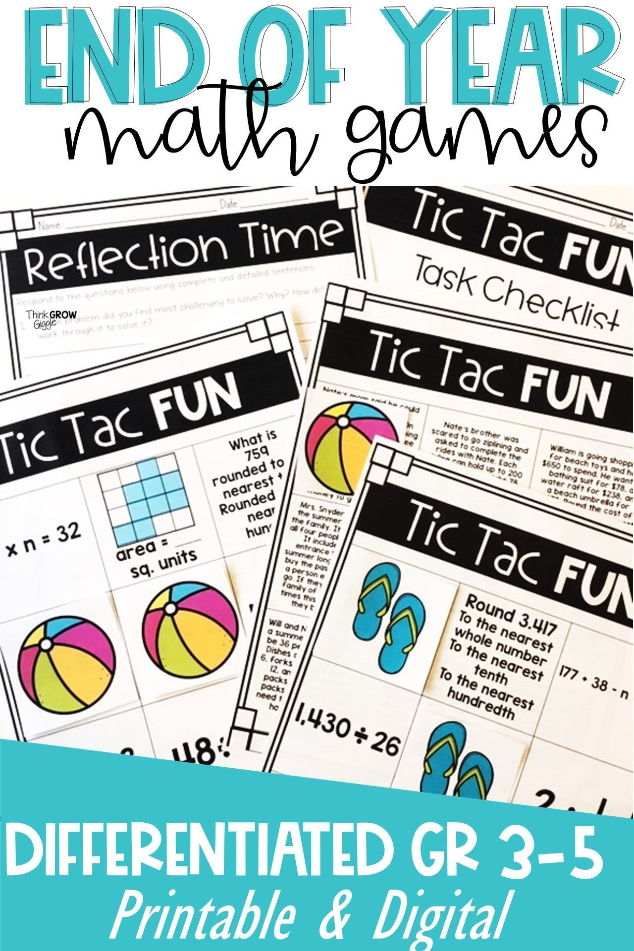 Predownload: End Of Year Math Review Fun Activities Games Differentiated In 2021 Math Activities Upper Elementary Math Activities Elementary Math [ 1920 x 1280 Pixel ]
