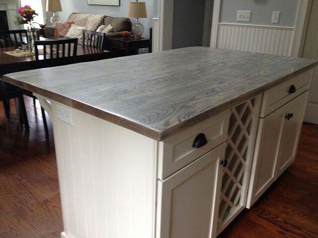 Gray Wood Countertops Outdoor Kitchen Countertops Diy