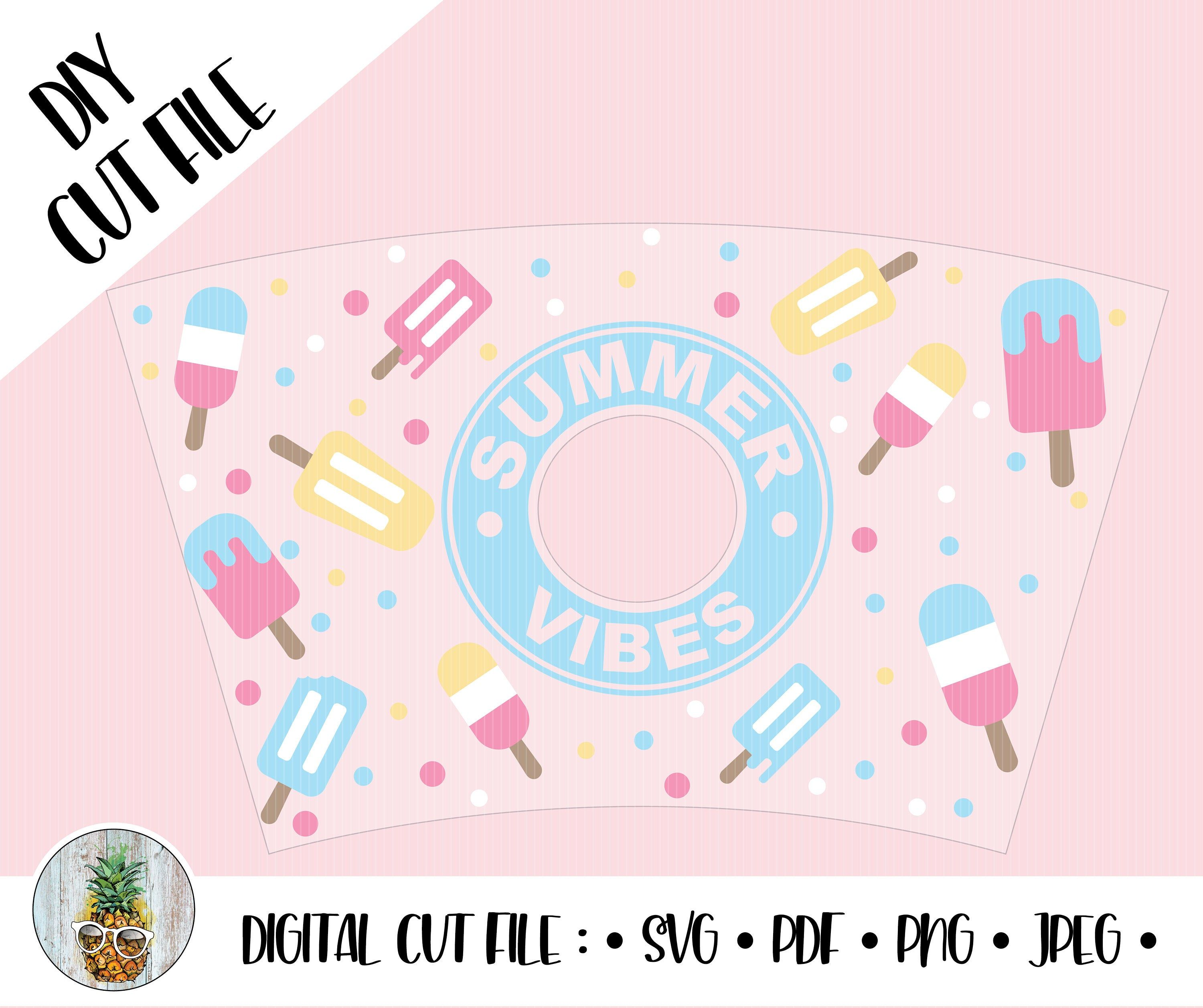 Summer Vibes Popsicle Starbucks Cup Wrap 20oz Cold Drink