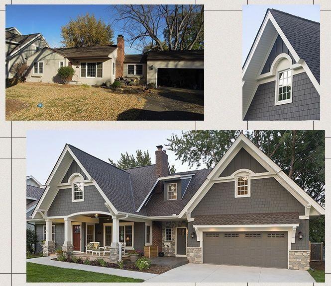 Before And After Exterior. #homeremodelingbeforeandafter