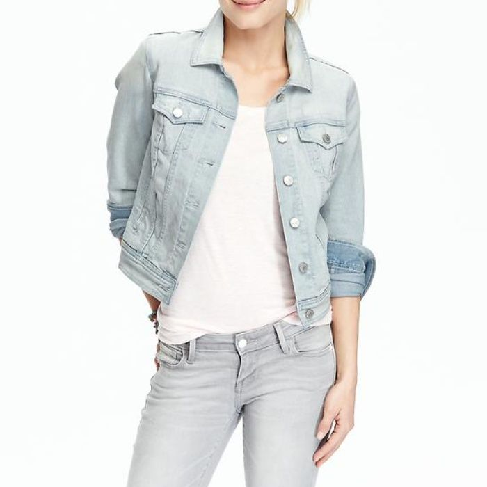 Old Navy Women's Denim Jackets in Light Wash | Navy women, Denim ...