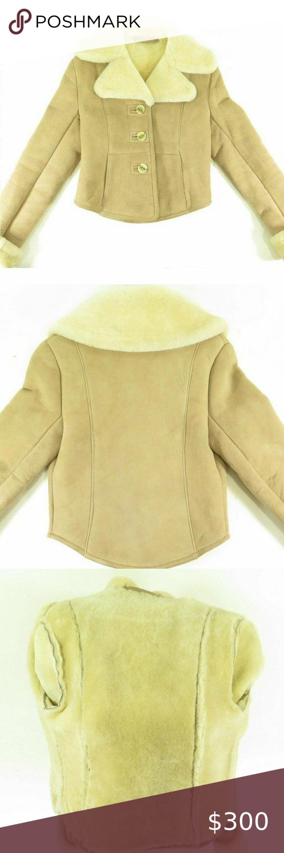 Vintage Matterhorn Sheepskin Shearling Jacket S Shearling Jacket Beige Leather Jacket Vintage Leather Jacket [ 1740 x 580 Pixel ]