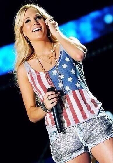 Carrie Underwood American Flag Tank Google Search Carrie Underwood Carrie Underwood Style Celebrities