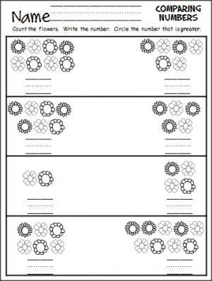 comparing numbers flowers teacher ideas numbers kindergarten comparing numbers. Black Bedroom Furniture Sets. Home Design Ideas