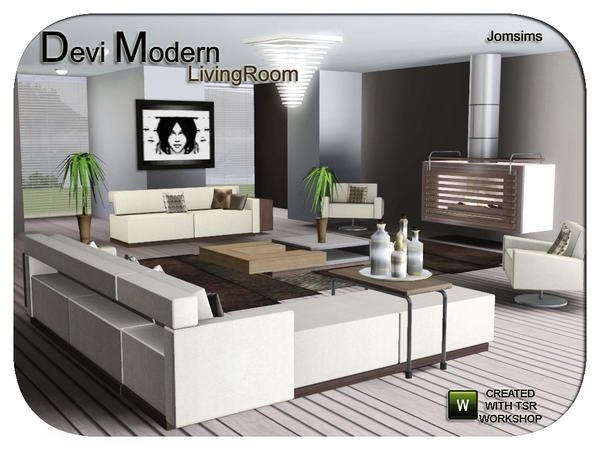 DEVI modern livingroom by jomsims - Sims 3 Downloads CC Caboodle ...