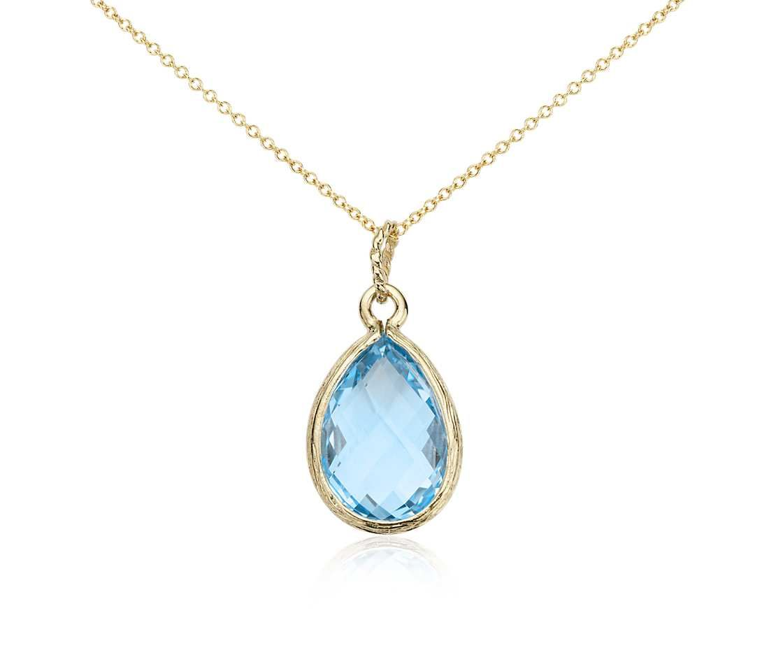 Blue topaz teardrop pendant in 14k yellow gold 15x10mm topaz blue topaz teardrop pendant in 14k yellow gold 15x10mm topaz gemstone blue topaz and topaz aloadofball Image collections