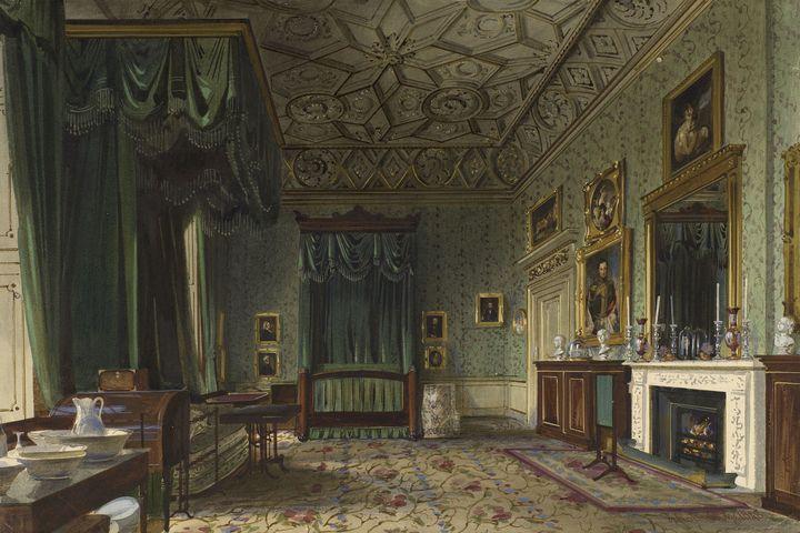 Buckingham Palace: The Queenu0027s Bedroom, 1848.