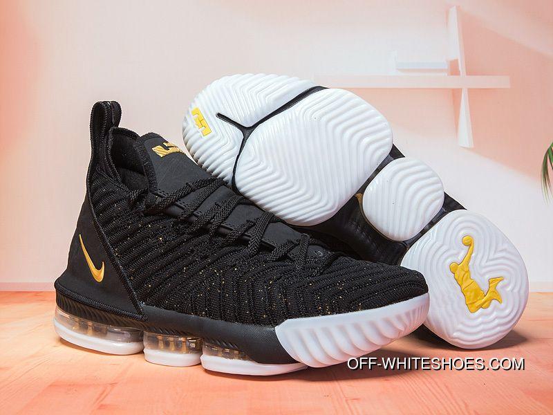 Release Nike LeBron 16 Black/Gold-White