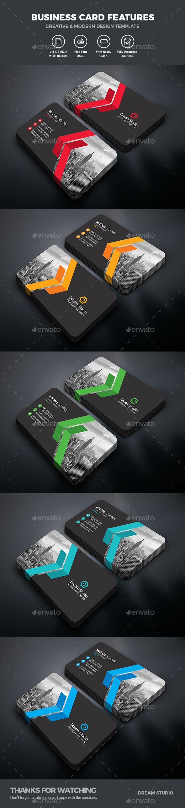Business card business cards business and print templates reheart