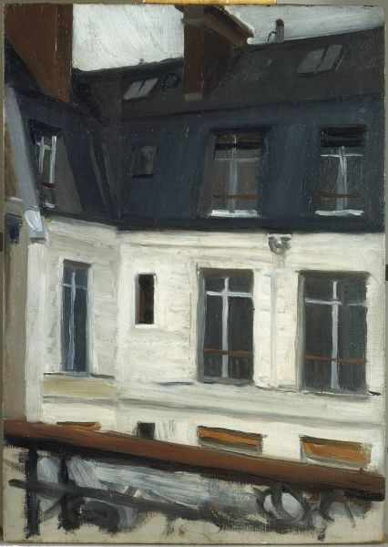 "Edward Hopper - ""Vista a través del Patio (en el nº 48 de la calle Lille, París)"", de 1906"