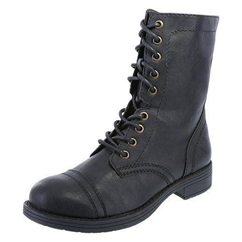 6d665fcfb0d4 Brash Women s Black DeeJay Lace-Up Boot 5 M US Brash https
