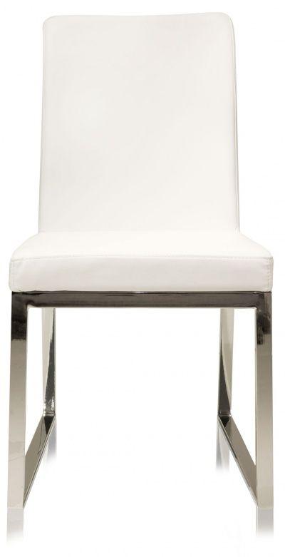 Niero Armless Modern Dining Chair White