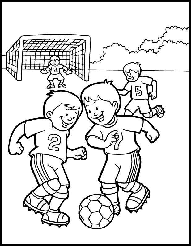 Criana Jogando Futebol Para Colorir