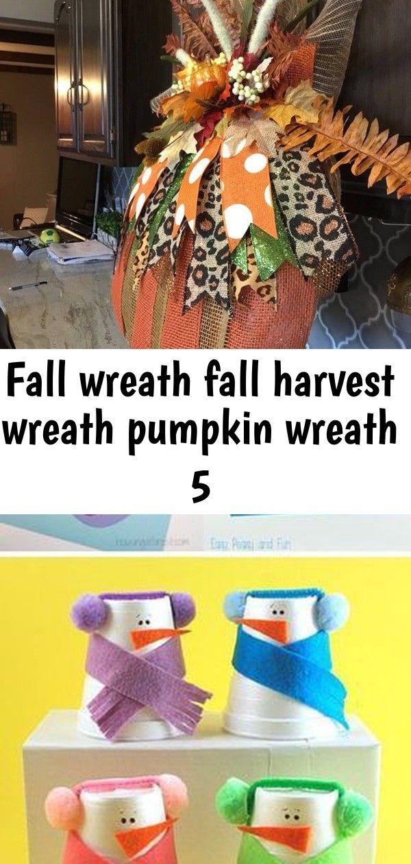 Fall wreath fall harvest wreath pumpkin wreath 5