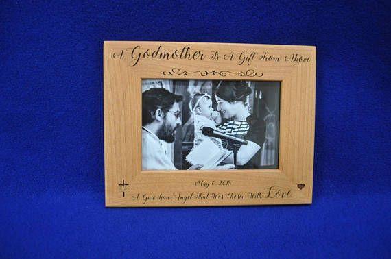 Gift For Godmother. Godmother Gifts. Baptism Frames. Personalized ...