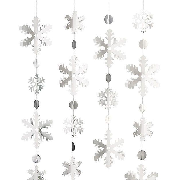 Weihnachtsdeko - Schneeflocken-Girlande Bastel-Set für Weihnachten - ein Designerstück von Cartissimi bei DaWanda