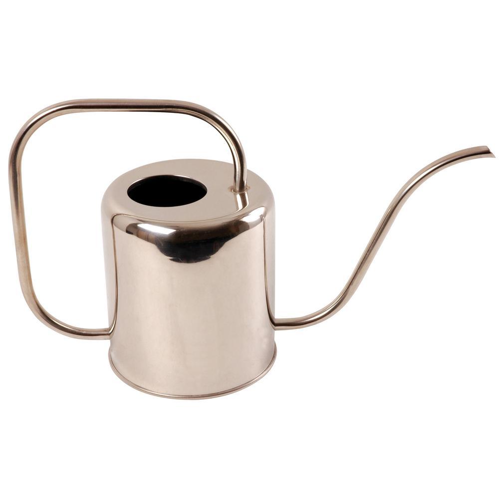 Esschert Design 1 2 Gal Modern Style Stainless Steel Watering Can