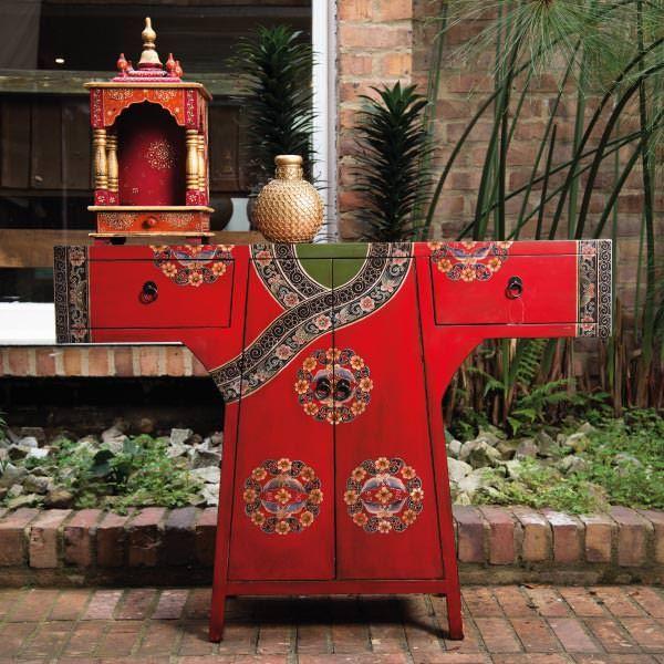 mueble chino rojo by sarria home china kimono geisha mueble mobiliario
