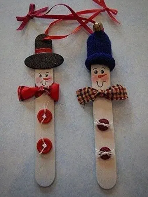 20 Christmas Ornament Popsicle Stick Nutcracker 3 #popciclesticks
