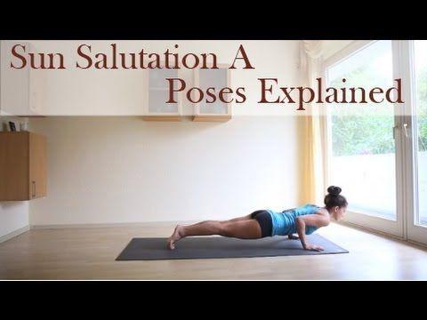 for beginners  sun salutation a  each yoga pose