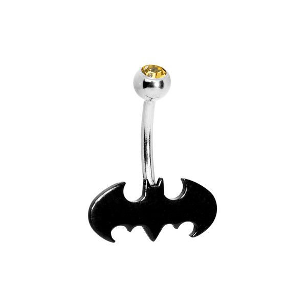 Stainless Steel Batman Belly Ring Liked On Polyvore Polyvore