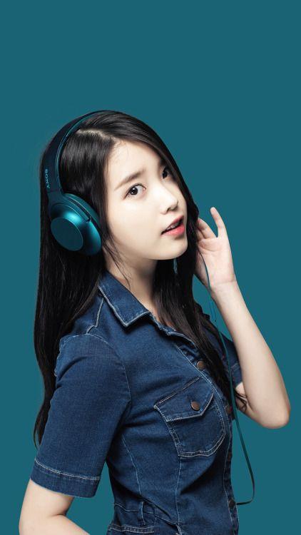 Iumushimushi Girl With Headphones Iu Fashion Korean Actresses