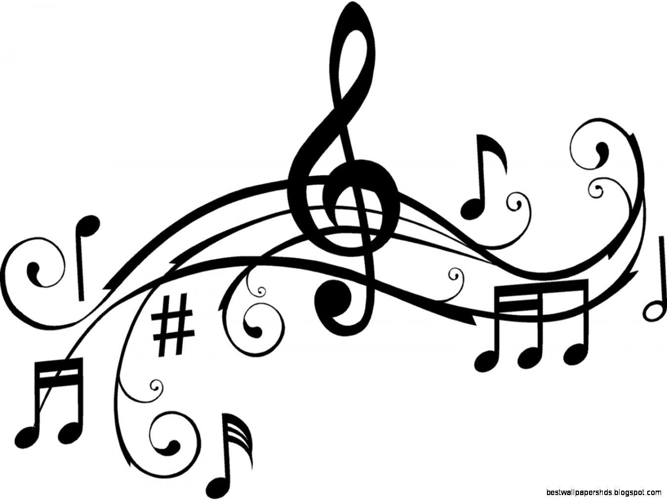 Music Art Black And White