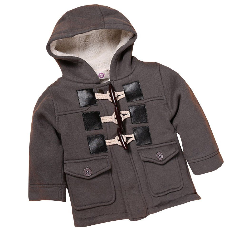 Baby Toddler Boys Coat Fall Winter Warm Peacoat Hooded Jacket Outerwear Material Cotton Polyester Fibre Ligh Boys Hooded Jacket Boys Coat Outerwear Jackets [ 1001 x 1001 Pixel ]
