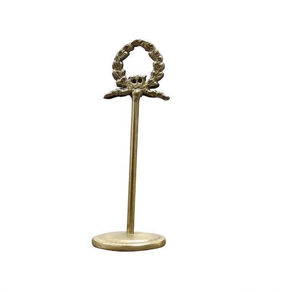 Laurel Wreath Card Holder Antique Brass Could Be A Table Number Holder And Use This Wreath Design On Cocktail Napkins Wreath Designs Antique Brass Antiques