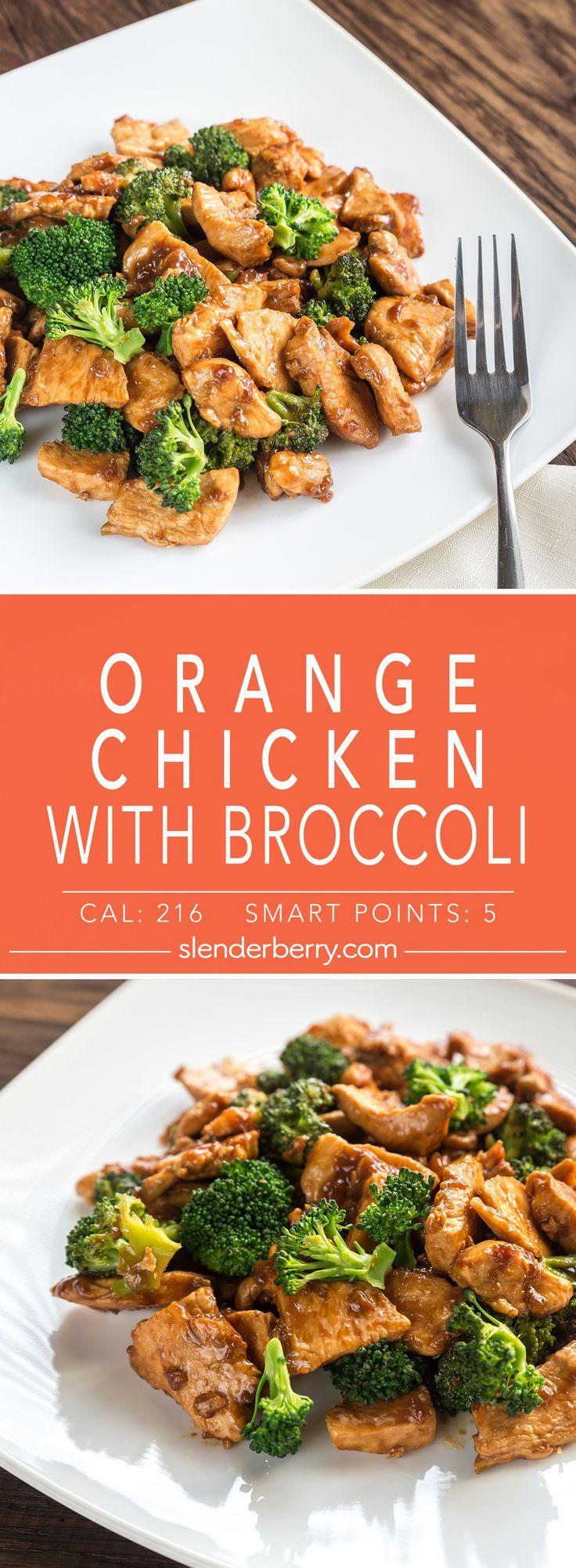Orange Chicken with Broccoli - Slenderberry