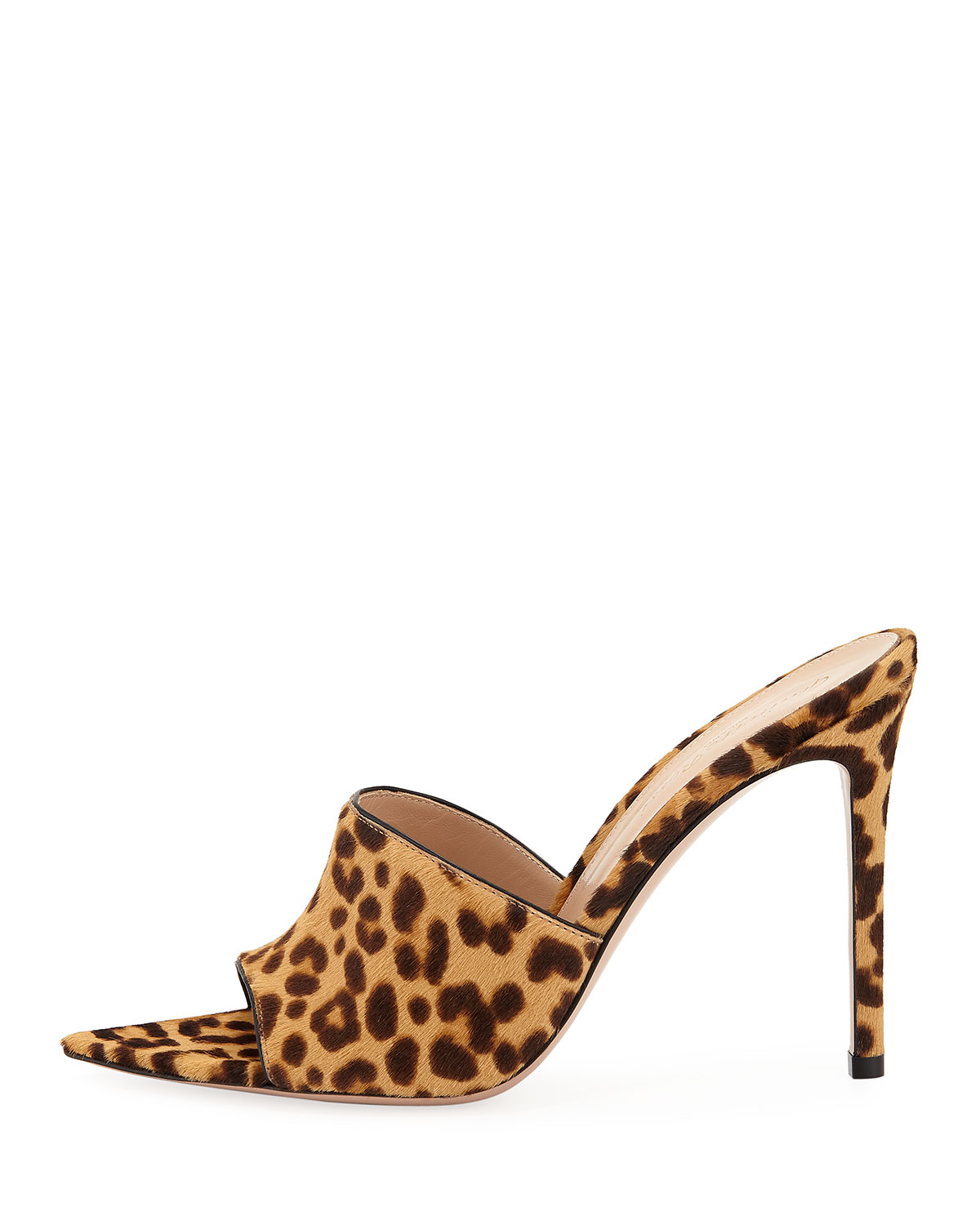 cd1fe93ab9a Leopard-Print Calf Hair Open-Toe Mule in 2019 | Products | Open toe ...