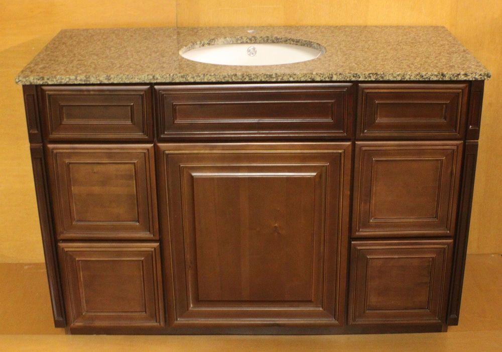 grandbay by kraftmad maple bathroom vanity sink cabinet 54 wbrown granite top