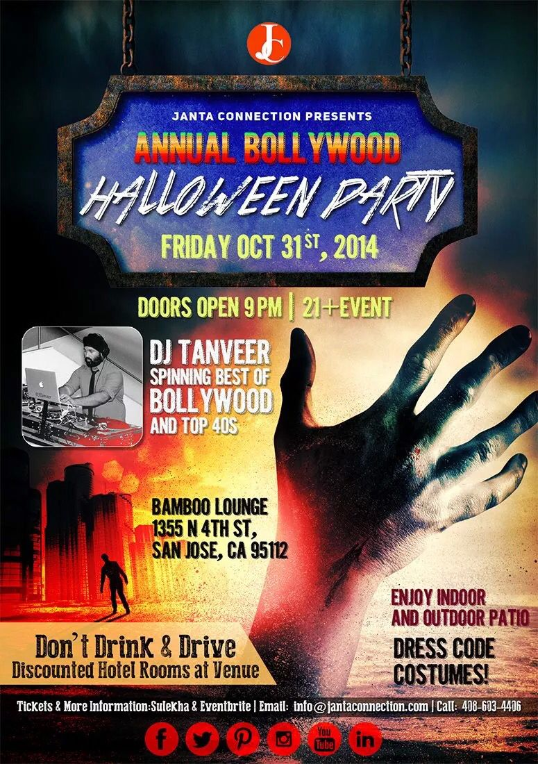 annual bollywood halloween party san jose bay area - Halloween Bay Area Events