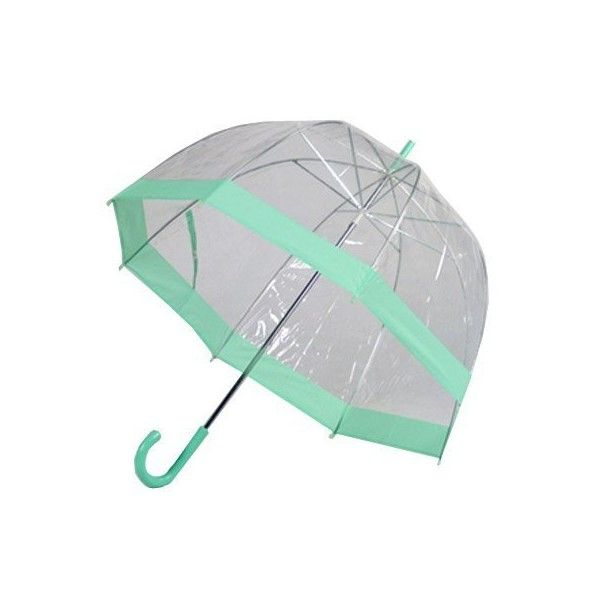 Amazon.com: Frankford Clear Bubble Umbrella - Green Trim: Clothing ($18) ❤ liked on Polyvore #clearumbrella