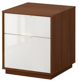 Amazing Ikea Nyvoll Nightstand In Medium Brown And White Evans Download Free Architecture Designs Grimeyleaguecom