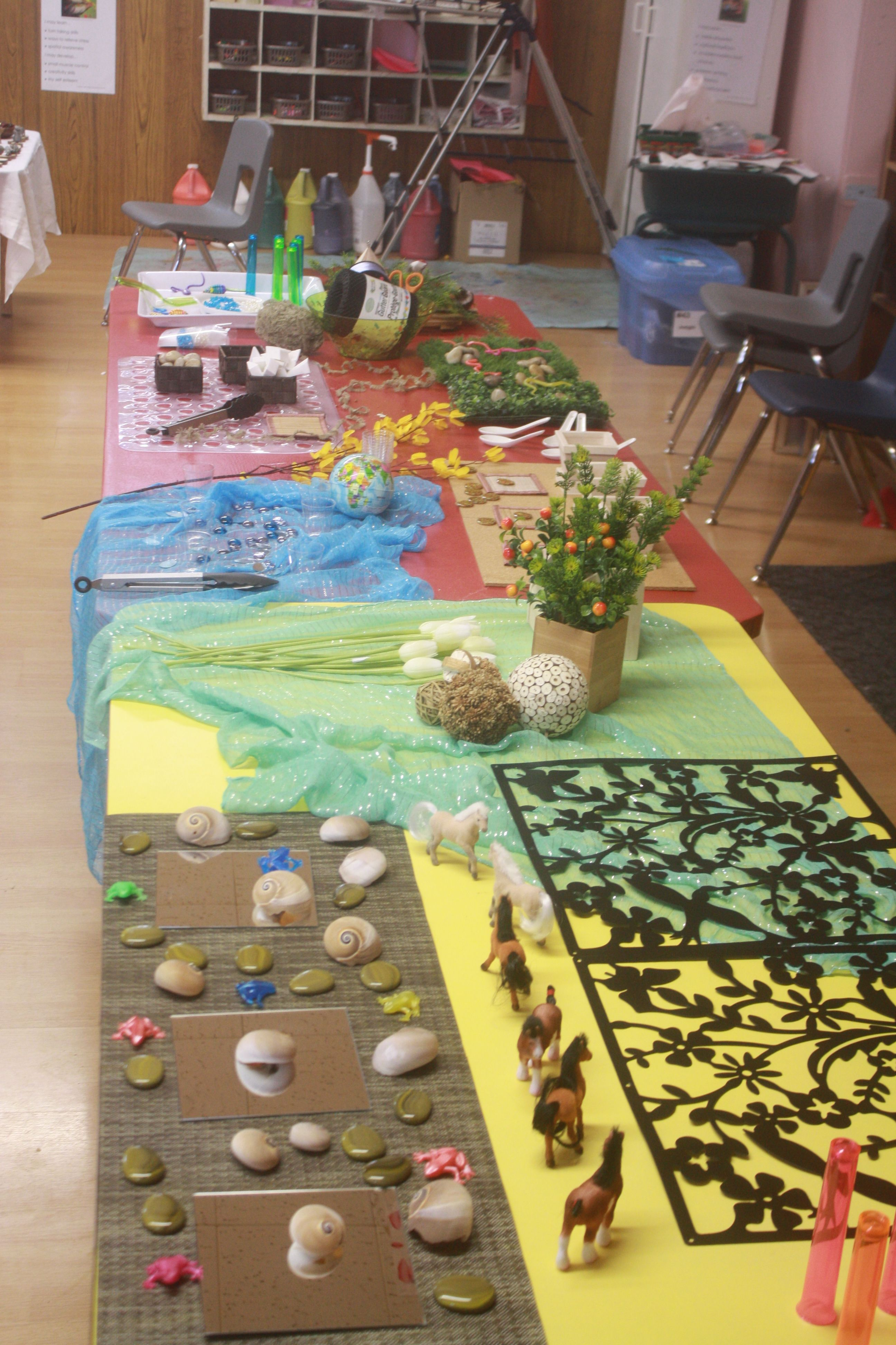 Practice setting up provocations with beautiful, open