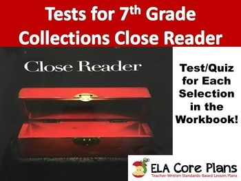 Collections close reader 7th grade quizzestests for every this teaching unit includes quizzes for each selection in the grade edition of houghton mifflin harcourts collections close reader fandeluxe Gallery
