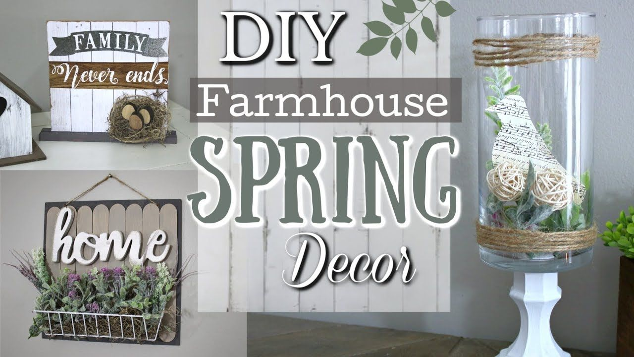 Diy Farmhouse Spring Decor Ideas Dollar Tree Diy Home Decor 2019 Krafts By Katelyn Youtube Dollar Store Decor Dollar Store Diy Diy Farmhouse Decor