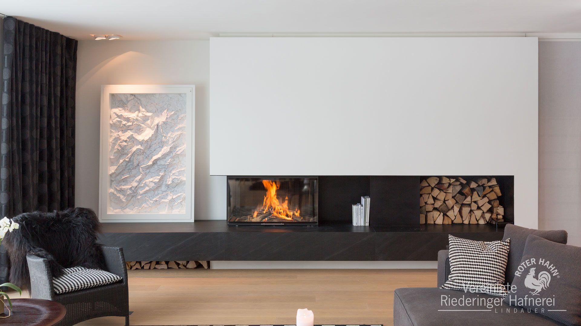 Riederinger Hafnerei panoramakamin panoramakamin kamin ofen fireplace ofenkunst