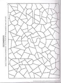 Mathe Zahlen Suchen Suchbild Wahrnehmung Anmalen Ausmalen
