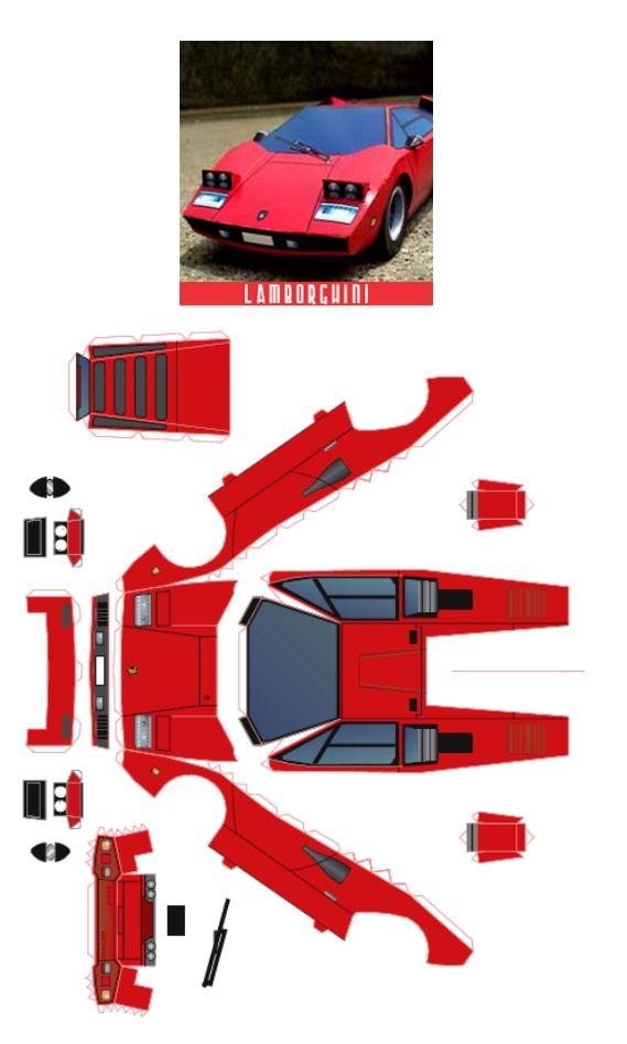Lamborghini Paper Model Template Related Keywords