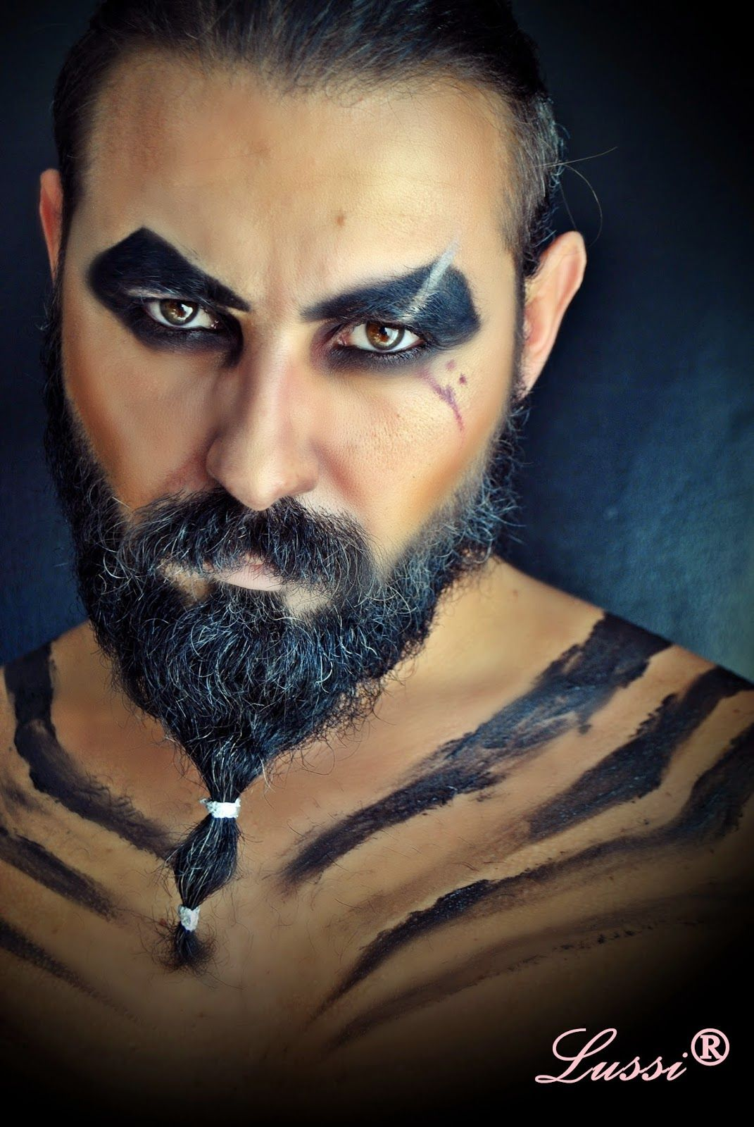 halloween make up ideas for man khal drogo halloween. Black Bedroom Furniture Sets. Home Design Ideas