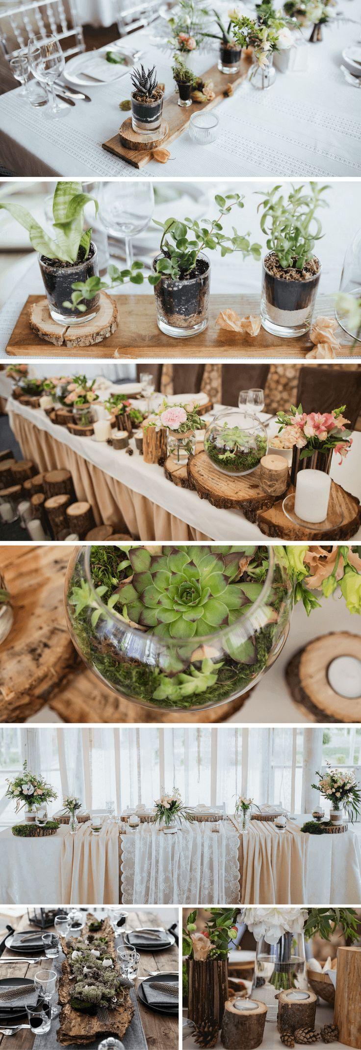 35 Ideen fr eine rustikale Hochzeitsdeko aus Holz