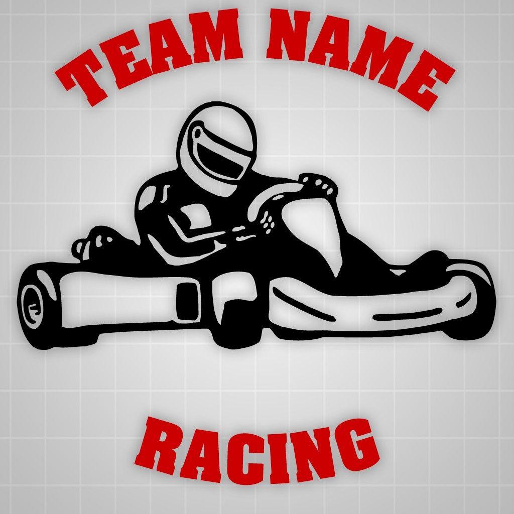 Details About Go Kart Race Team Graphic Go Kart Sticker