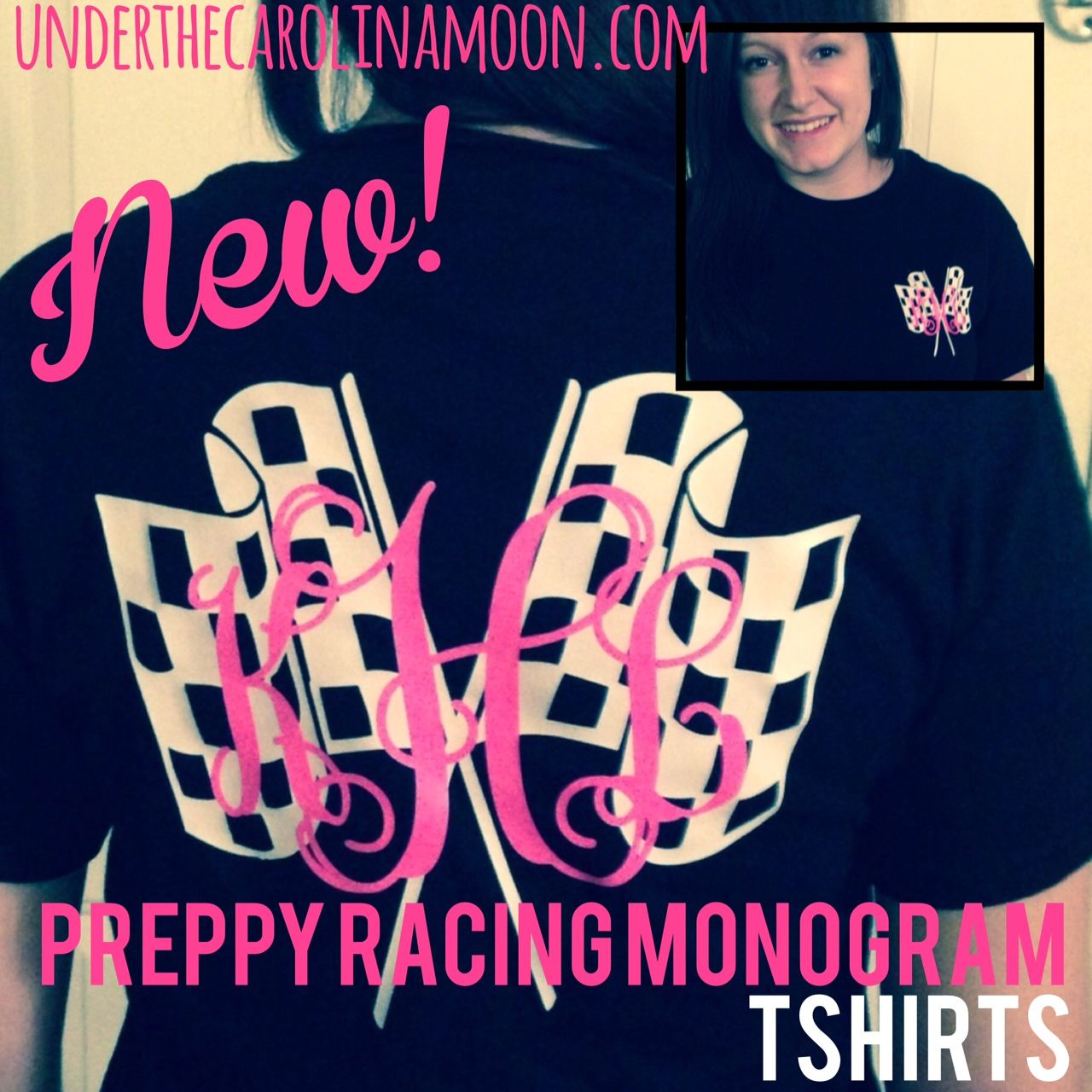 Preppy Racing Monogram Sports Fun Pinterest