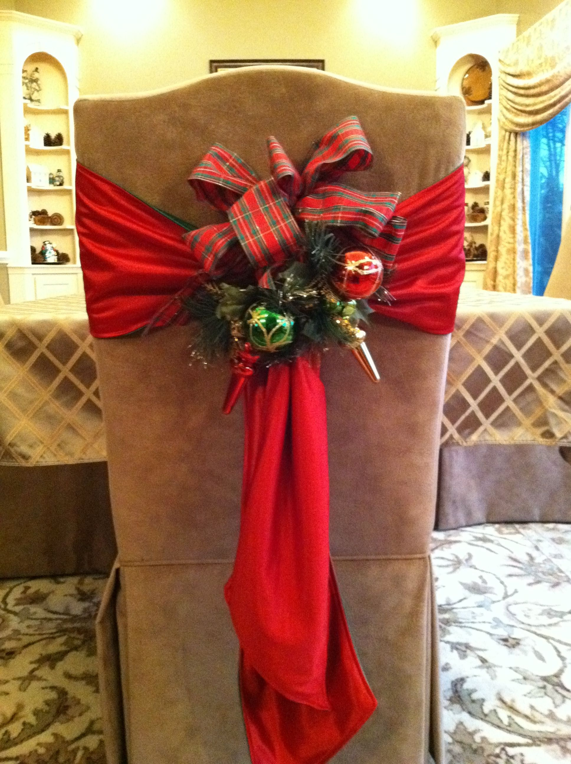 Merry Christmas Chair Covers Cosco Folding Chairs Padded Sash Holiday Decoration Http Ebay