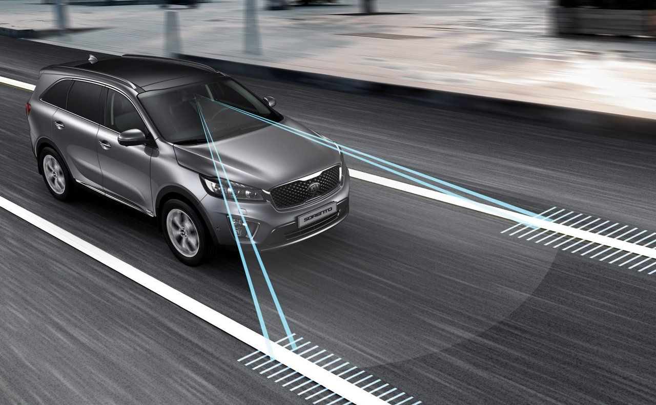 Stay The Course With The Available Lane Departure Warning System Ldws The System Will Give Visual And Audio Alerts If You Stray From Kia Sorento Sorento Kia